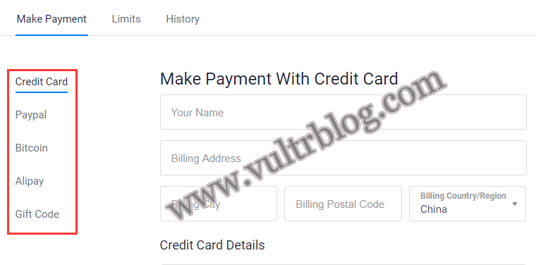 Vultr 此促销不能使用支付宝 Alipay may not be used with this promo 的解决办法